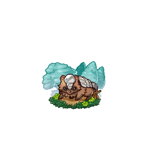 An Armored Tanuki  in the mobile game