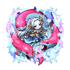 Kanami as an Ice Blood True Vampire along with her Ice Blood Hydra