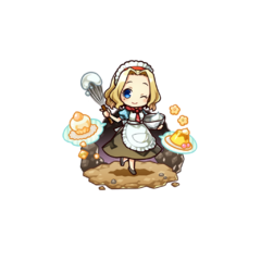 Felicia as a Cook Chief in the mobile game