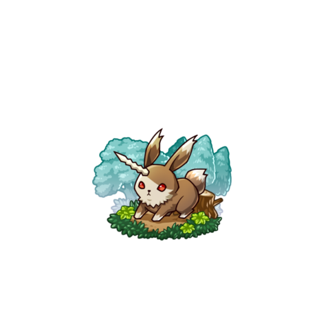 A Horned Rabbit in the mobile game