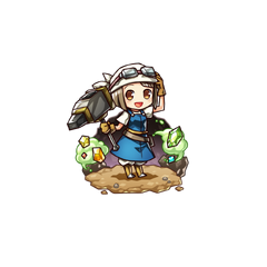 Emery as a Spirit Smith in the mobile game