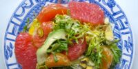 Avocado Citrus Salad with Curry Dressing