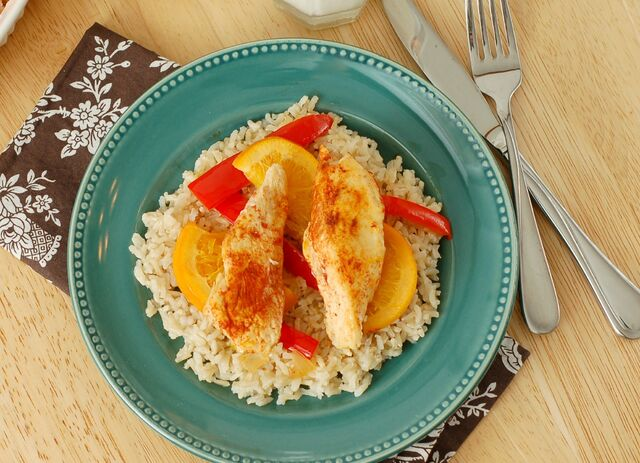 File:Sweet-and-spicy-chicken-over-rice-above-w-name.jpg