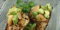 Grilled Swordfish with California Avocado Grapefruit Salsa
