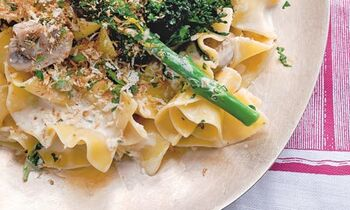 Crunchy pappardelle