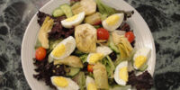 Artichoke Salad with Romesco