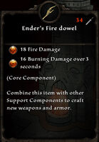 Enders fire dowel