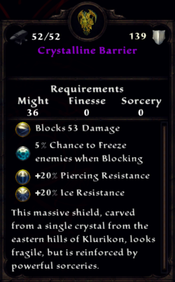 Crystalline Barrier Inventory