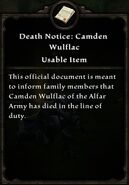 Camden Death Notice