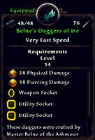 Belnes daggers of ire