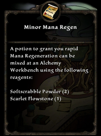 Minor Mana Regen Potion