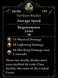 Verdant Blades Inventory