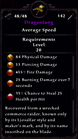 Dragonfang Inventory