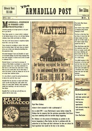 The Armadillo Post no 1 (2)