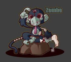 Zombie Zoo Monkey by Zatransis
