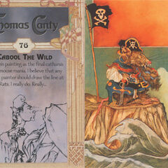 Thomas Canty Trading Cards #76 - Gabool the Wild (misspelt Cabool)