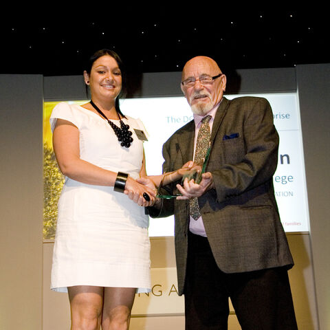 Brian Jacques with Kate Doran
