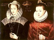 File:Queen Mary & her son James.jpg