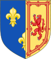 File:Coat of Arms of Mary as Dowager Queen of France.png