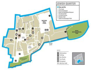 Jerusalem Jewish Quarter map