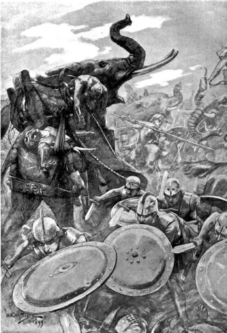 File:The phalanx attacking the centre in the battle of the Hydaspes by Andre Castaigne (1898-1899).jpg