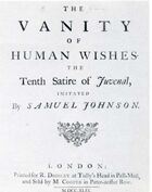 Vanity of Human Wishes