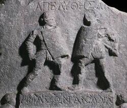 Gladiatrix relief
