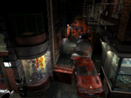 Resident Evil 3 background - Uptown - street along apartment building e - R10D0B