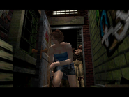 Resident Evil 3 Nemesis screenshot - Uptown - Street along apartment building - Jill Valentine scene 09