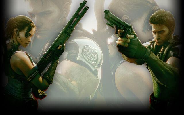 File:Resident Evil 5 Biohazard 5 Background Guns Out.jpg