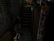 Resident Evil 3 background - Uptown - warehouse back alley d1 - R10203