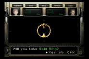 Resident Evil 0 Trial Edition DVD - Gold Ring detail
