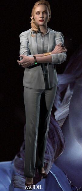 Alex Wesker - Resident Evil Wiki Elaine Hendrix Alex Wesker