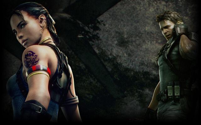 File:Resident Evil 5 Biohazard 5 Background Chris and Sheva.jpg