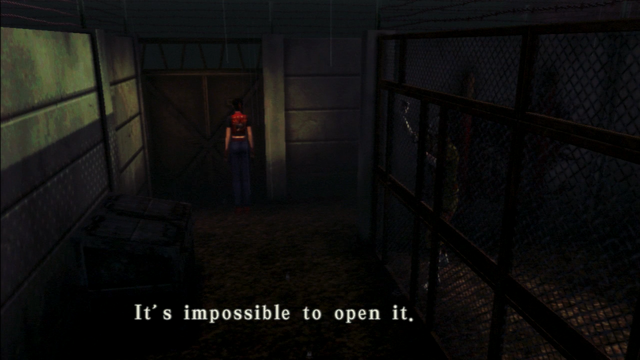 File:Resident Evil CODE Veronica - square in front of the guillotine - examines 01-2.png