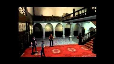 """Resident Evil cutscene J1 - """"Jill enters the mansion"""""""