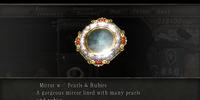 Mirror w/ Pearls & Rubies