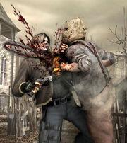 Resident Evil 4 - Chainsaw Man poster