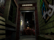Resident Evil 3 background - Uptown - street along apartment building l - R10D08