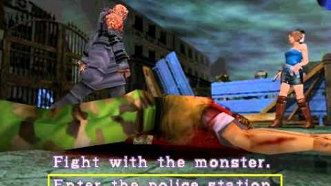 Resident Evil 3 Nemesis cutscenes - Jill escapes to the Police Station (alternate)