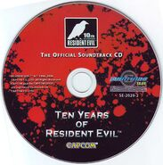 Ten Years of Resident Evil The Official Soundtrack CD