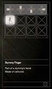 Resident Evil 7 Teaser Beginning Hour Dummy Finger inventory