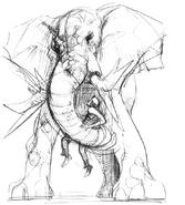 Zombie Elephant concept art 1