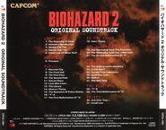 BIOHAZARD 2 ORIGINAL SOUNDTRACK - back cover
