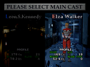 RE15 Character Select (Elza)