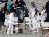 Revenges-Emily-VanCamp-Gabriel-Mann-and-Nick-Wechsler-Shoot-Seaside-White-Wedding-4-580x435