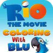 Blu couloring app