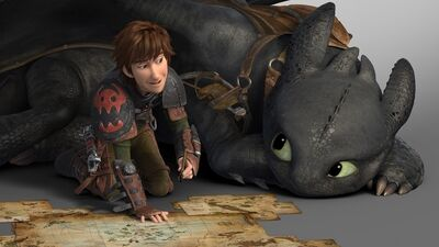 Hiccup and Toothless HTTYD2 still