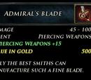 Admiral's Blade