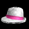 Neon Pink Snake Fedora